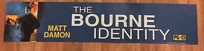 ⭐ The Bourne Identity - Movie Theater Poster / Mylar LARGE - Double-Sided DS