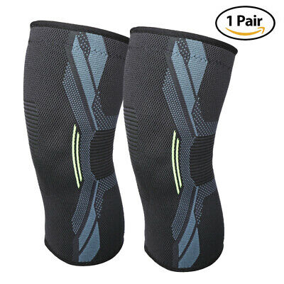 2X Athletic Knee Compression Sleeve Support Brace Joint Pain Relief Arthritis