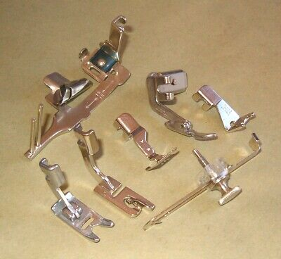 Set of 7 Singer Sewing Slant Shank Machine Attachments 401a 500a 503 Rocketeer