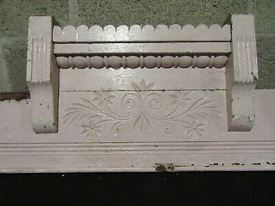 ~ Antique Carved Walnut Pediment ~ 51 Inches Wide ~ Architectural Salvage ~