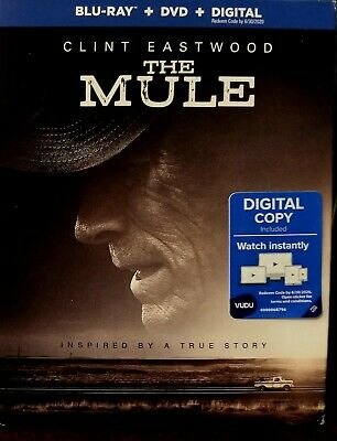 THE MULE Clint Eastwood (Blu-Ray+DVD+SlipCover+Case) No Digital - Free Shipping!