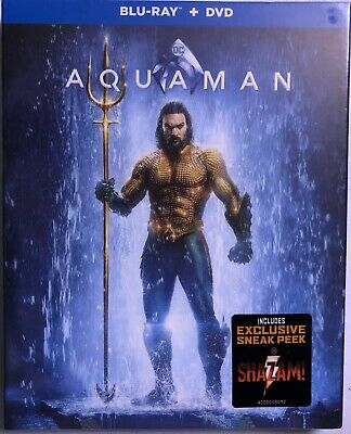 Aquaman (Blu-Ray + DVD ) Slipcover. Brand New Fast Free Shipping!