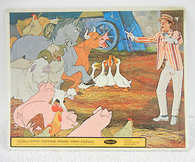 1964 Mary Poppins Frame Tray Puzzle : Bert (Dick Van Dyke) Directing Singing