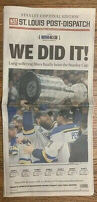 St Louis Blues 2019 Stanley Cup WE DID IT!Newspaper Post Dispatch FREE SHIPPING