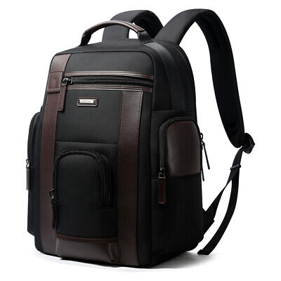 Luxury leather waterproof Anti-Theft USB charge Business Travel laptop Backpack
