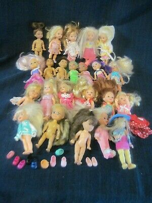 Barbie Little Sister Kelly and Chelsea Type Dolls Lot Of 23