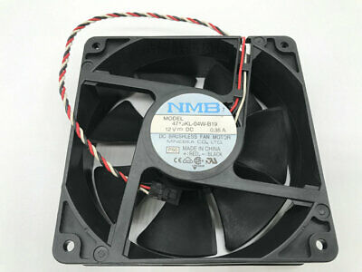 NEW Lot 2 NMB 4715KL-04W-B39 DC Axial Cooling Fan 3-Wire 12V 0.72A 120X120X38mm