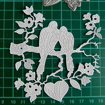 FOREVER TOGETHER DIE 438304 TATTERED LACE Stephanie Weightman -2 Birds on branch