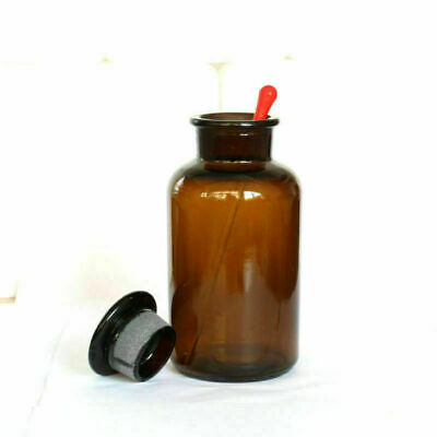 Wide Mouth Ground Glass Stopper Lab Brown Glass with Drop Reagent Bottle 1000ml