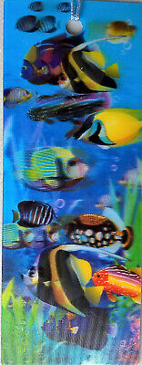 3D BOOKMARK - Fish - Moving Picture - Gift Adult Kids -  BRAND NEW - Lenticular