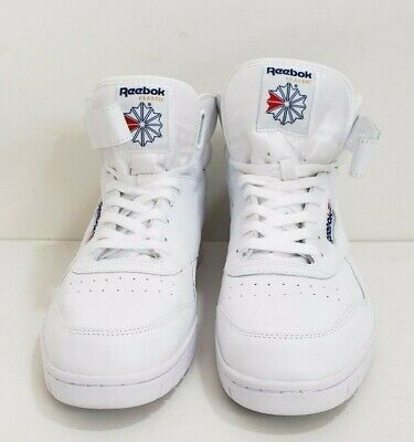 Reebok Classic Ex-O-Fit Hi Top Mens Sneakers White Trainers Size 12 Retro