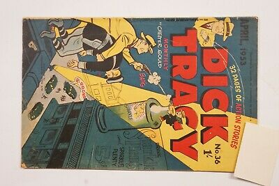 Dick Tracy comic book No. 36 issued Apr 1953