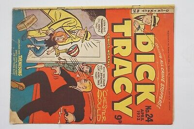 Dick Tracy comic book No. 24 issued Apr 1952