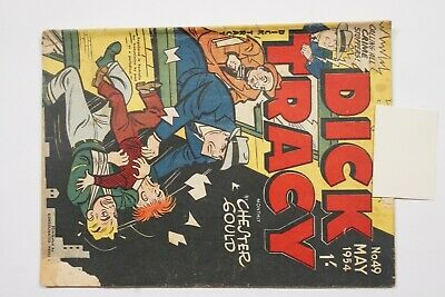 Dick Tracy comic book No. 49 issued May 1954