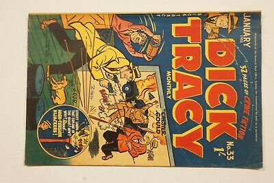 Dick Tracy comic book No. 33 issued Jan 1953