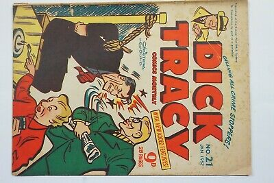 Dick Tracy comic book No. 21 issued Jan 1952