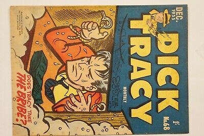 Dick Tracy comic book No. 68 issued Dec 1955