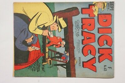 Dick Tracy comic book No. 65 issued Sep 1955