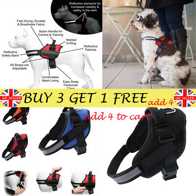 Strong Adjustable Soft Padded Non Pull Dog Harness Pet Puppy Vest&Reflective GD