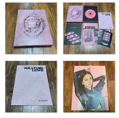 [JISOO] BLACKPINK Official FOLDED POSTER + 2nd Mini Album Opened CD Pink Ver.