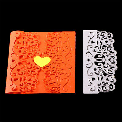 Hollow out heart lace Metal Cutting Dies Scrapbooking AlbumPaper Card Stencil_WK