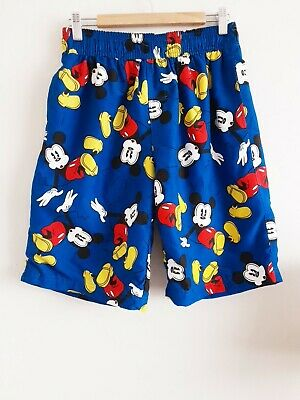 Disney Mickey Mouse Long Swimming Shorts Trunks Blue Med