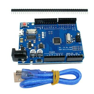 UNO R3 ATMEGA328P-16AU CH340G Micro USB Board + Cable For Arduino