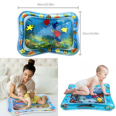 Inflatable Fun Water Play Mat for Kids Baby Children Infants Best Tummy Time OZ