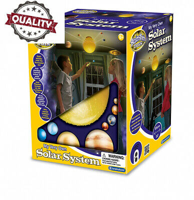 Solar System Ceiling Light Mobile Space Kids Remote Control Planets Rotate Sun