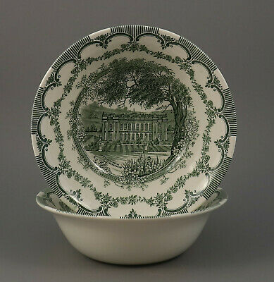 "Eine Schale 22x7cm English Ironstone Tableware ""Chatsworth House"" grün EIT"