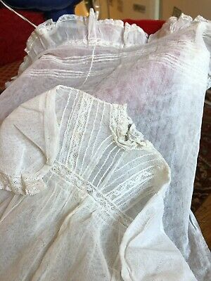 Antique Lace Christening Robe Victorian
