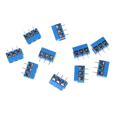 10X Kf301-3P Pitch 5.0Mm Straight Pin Pcb 3Pin Screw Terminal Block Connector FO