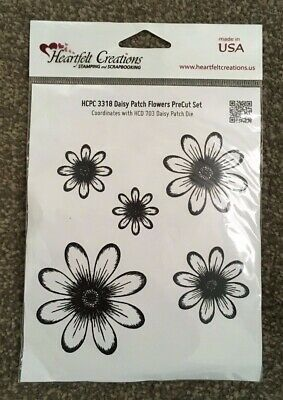 HEARTFELT CREATIONS - Daisy Patch Flowers PreCut Set (HCPC 3318) - BNIP