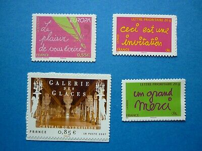 France  Lot Timbres Autoadhesifs  204 A 207 Neuf ** Petite Adherence Sur Le 205
