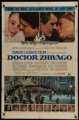 Doctor Zhivago 1965 Original Release One Sheet Poster David Lean Omar Sharif