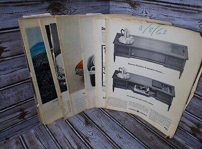 Lot of 6 Vintage Random LIFE Magazines Missing Front and Back Covers 1962 - 1967
