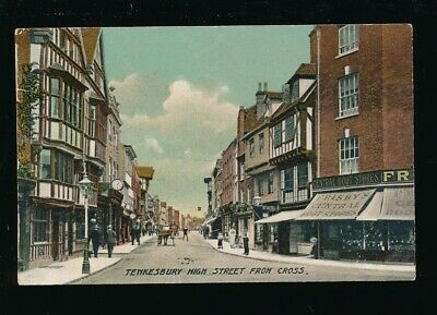 Gloucestershire Glos TEWKESBURY High St from Cross c1900/10s? PPC