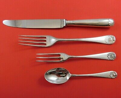 English Shell by James Robinson Sterling Silver Dinner Size Place Setting(s) 4pc