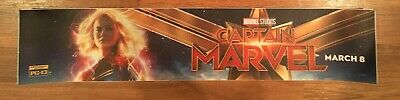 ⭐ Captain Marvel - Movie Theater Poster / Mylar Small Version 2x12