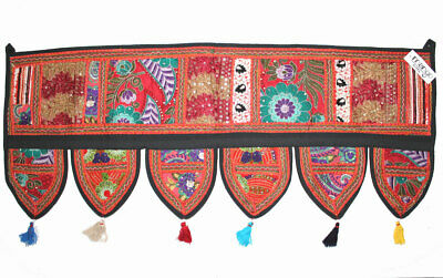 """Decorative Patchwork Window Door Valance Topper Wall Hanging Tapestry 39/"""" Length"""