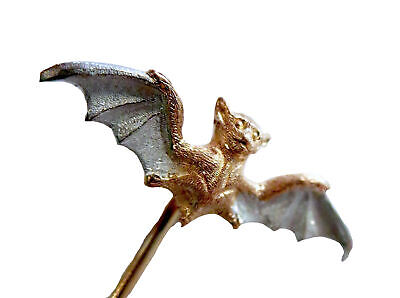 STICKPIN Winged BAT Antique 14K TWO COLOR Gold