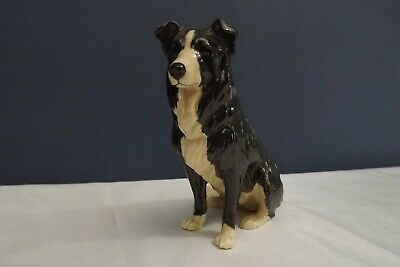 pottery border collie figure