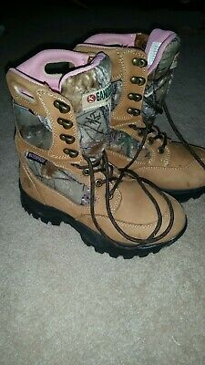 ee435ad0d35 GANDER MOUNTAIN GIRLS 1 M Hiking Boots Outdoor Shoes Lace Up Youth ...