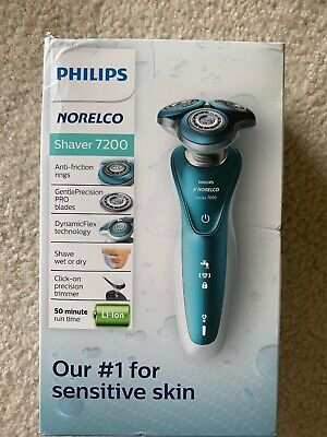 Philips Norelco Electric Shaver 7200 Wet & Dry for Sensitive Skin S7371/83