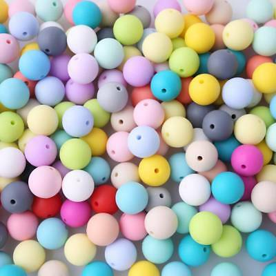 10x 12mm Silicone Loose Beads Baby Teething Teether DIY Necklace Pacifier Clip