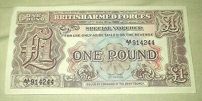 British Armed Forces, £1 Note.  Uncirculated. Mint Condition.