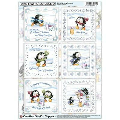 Craft Creation Busy Penguins Toppers For Cards & Craft