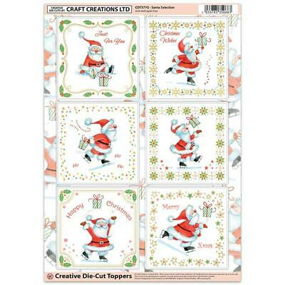Craft Creation Christmas Santa's Toppers For Cards & Craft