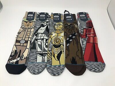 5 Pair STANCE STAR WARS Mens Socks Large - 9-12 - NEW - FREE SHIPPING!