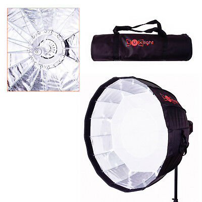 LuxLight 70cm Deep Parabolic Umbrella Softbox & Bag | Bowens Mount | Soft Box